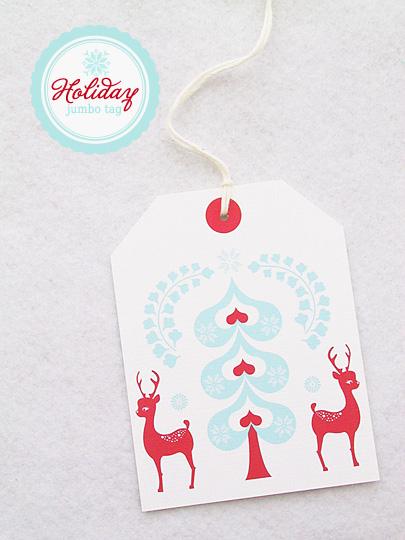 DIY reindeer jumbo gift tag