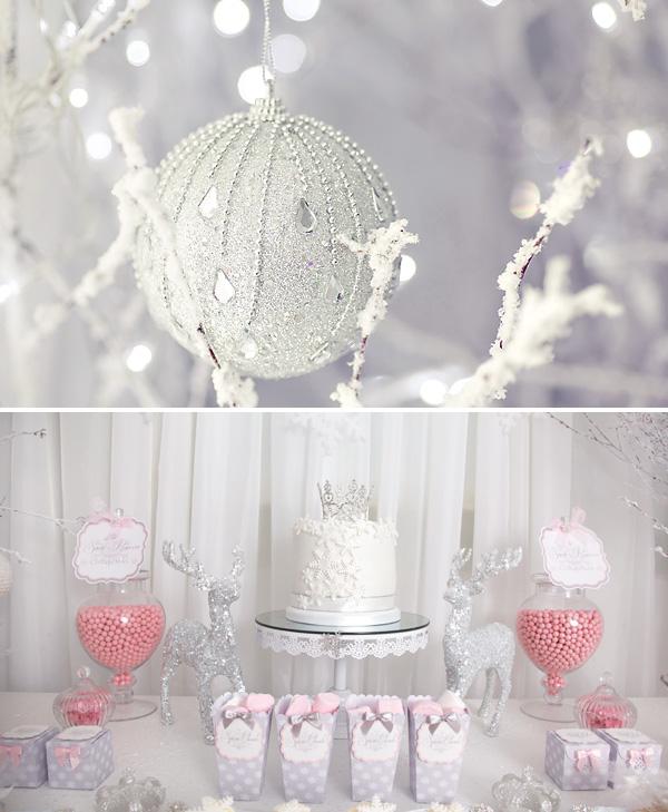 pink-white-snow-princess-party-desserts