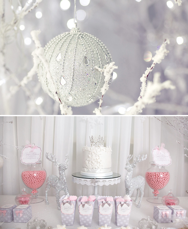 pink-white-snow-princess-party-desserts