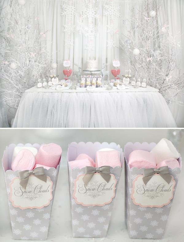 pink-white-winter-princess-dessert-table