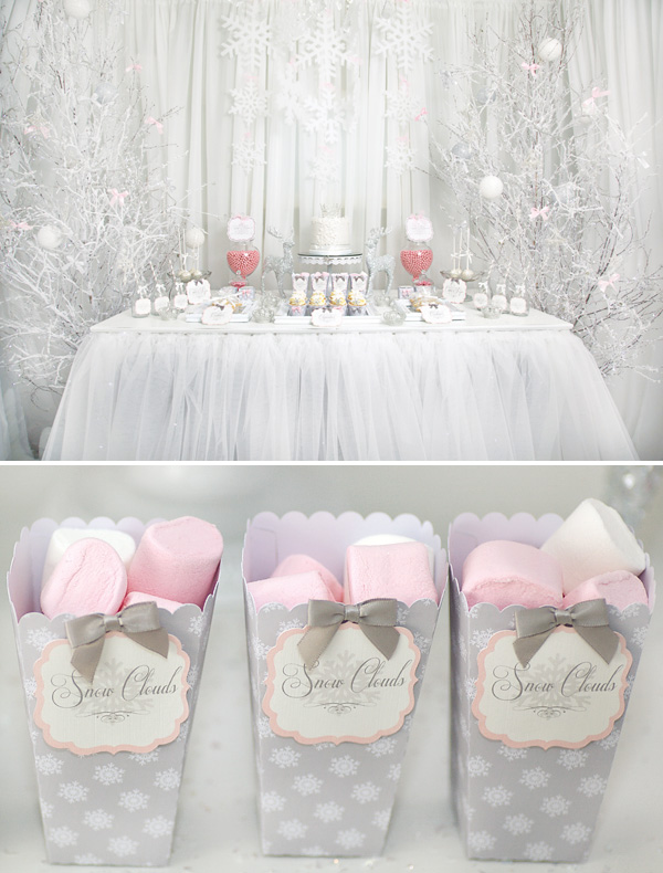 pink-white-winter-princess-dessert-table