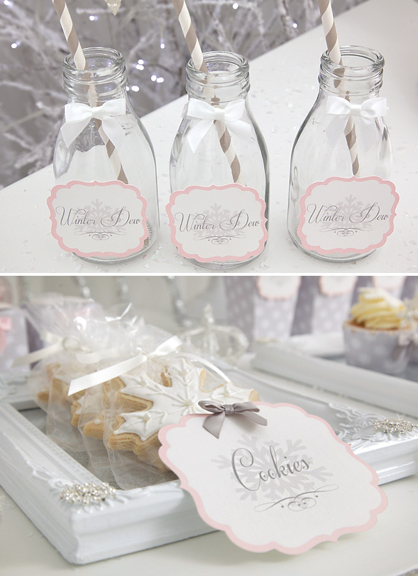 snow-princess-party-drinks-cookies