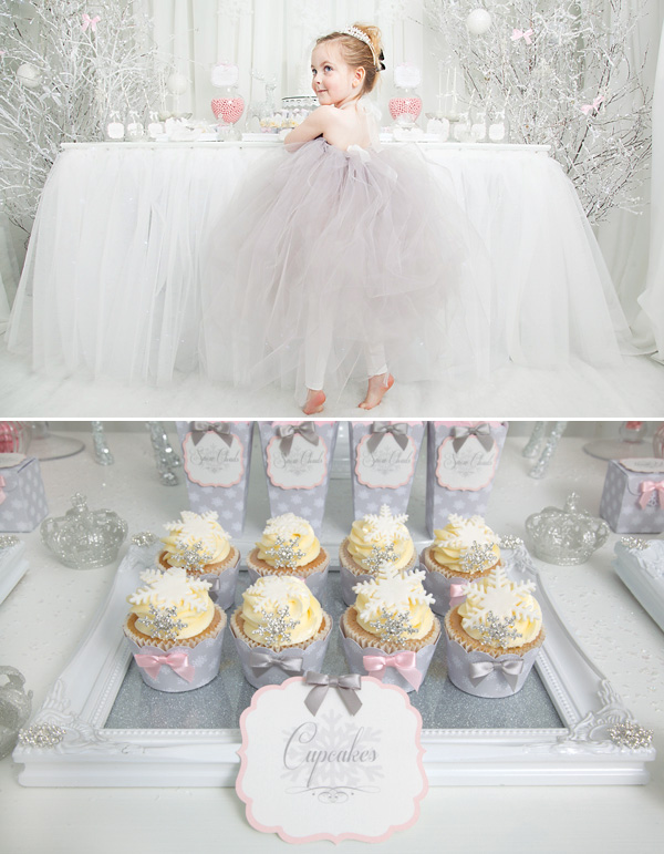 snowflake-princess-dessert-table